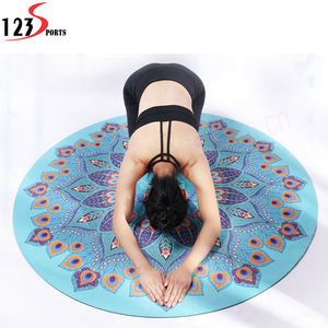 High Quality Custom Pattern Print Natural Rubber round Yoga Mat