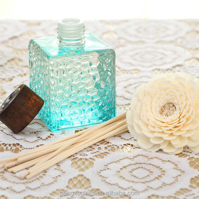 100ml aroma diffuser bottle with artificial flower for home decor