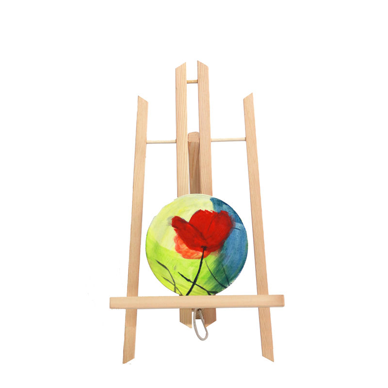 Hot sale factory art supply mini tabletop art canvas painting wood easel