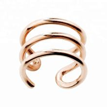 316L Steel Rose Gold Faux  Ear Cuff Piercing Jewelry