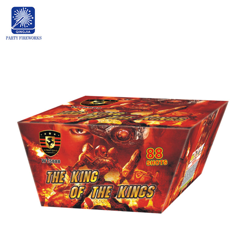 "0.8""inch 88 shots The King Of The Kings wholesale salutes fireworks cakes Pyrotechnics"