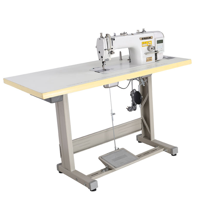 Direct-drive high-speed single needle lockstitch style sewing machine with automatic thread trimmer