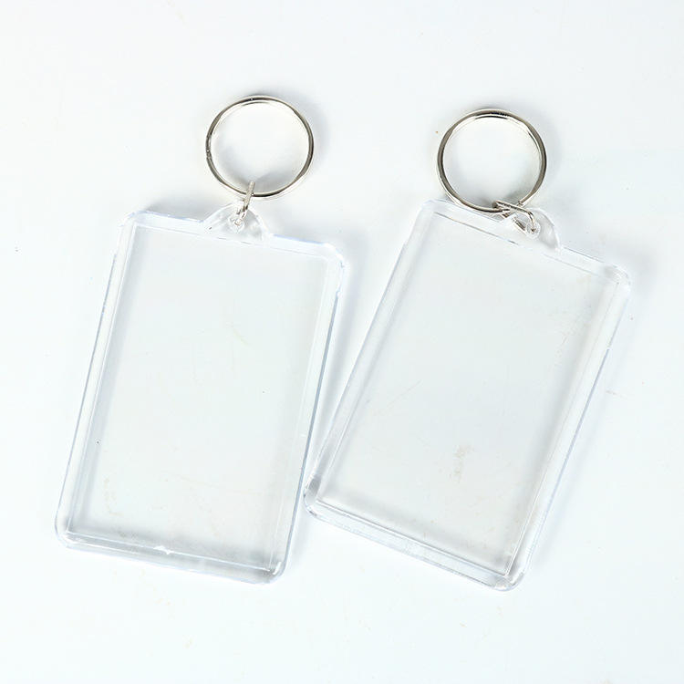 Manufacturers supply Transparent Photo Frame Gift Acrylic Blank Keychain