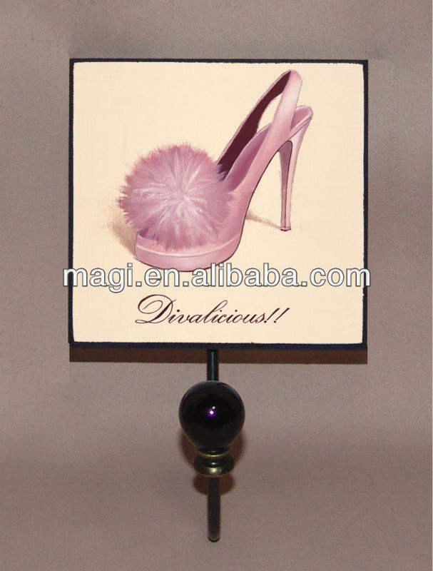 خمر هوك معدنية أحذية المرأة للديكور حائط