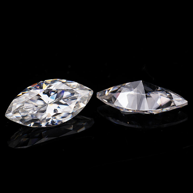 provence gem 1CTW Marquise Colorless Moissanite Gemstone for gold ring making