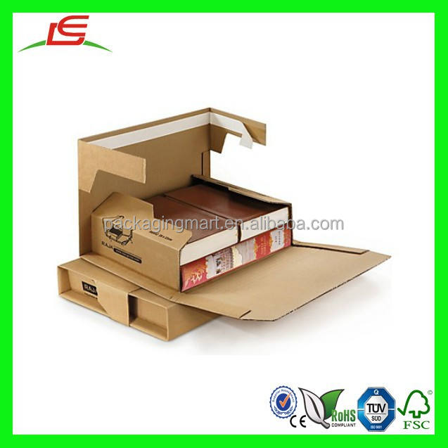 NZ107 A Book Box that Gives Maximum Protection, Premium Brown Panel Wrap Corrugated Book Shipping Box