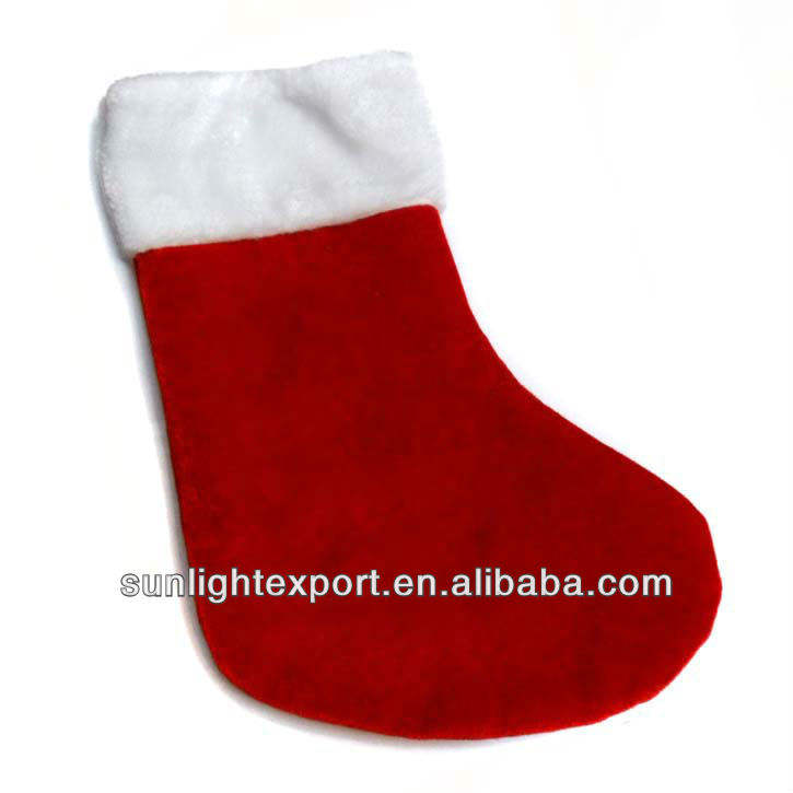 프로모션 plain felt 크리스마스 stocking santa socks
