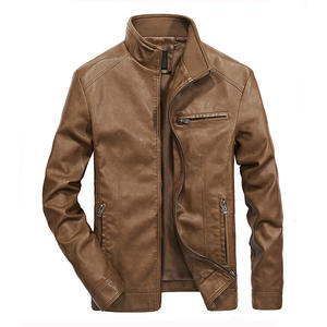 Spring New Mens High Quality Locomotive Thin Leather Jacket