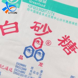 Custom Printing Packaging Polypropylene Bopp Pp Woven 50kg Sugar Bag