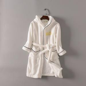 Hot sale pure colour kids bath robe
