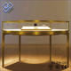 New design jewellery stand for shop retail glass jewelry display table showcase with wholesale