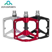 ZOYOSPORTS MTB Bike Bicycle Hollow Sealed DU Bearing Pedals Ultralight CNC Aluminum Alloy Cycling Non-slip Cleat Bike pedal