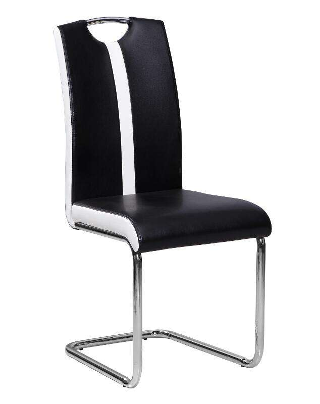2020 Free Sample Chrome White Black Iron Wire Side Dining Chair