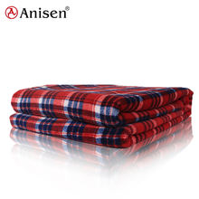 wholesale custom unique warm soft plaid printed throw coral fleece blanket
