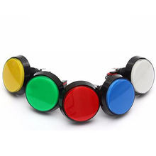 60MM Big Round Arcade Video Game Player Push Button Switch 5 Colors with Microswitch and LED Light Lamp