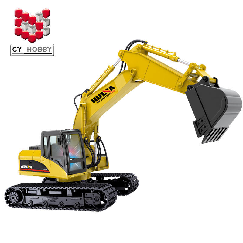 HUINA580 1:14 15CH RC metal remote control excavator Die-cast Truck huina 1550 of plastic version