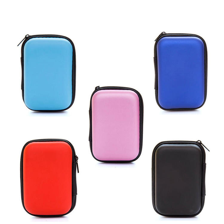 Headphones Case Multifunction Protective Hard Travel Carrying Case EVA Bag For Wired Headset Earphone Earbuds MP3