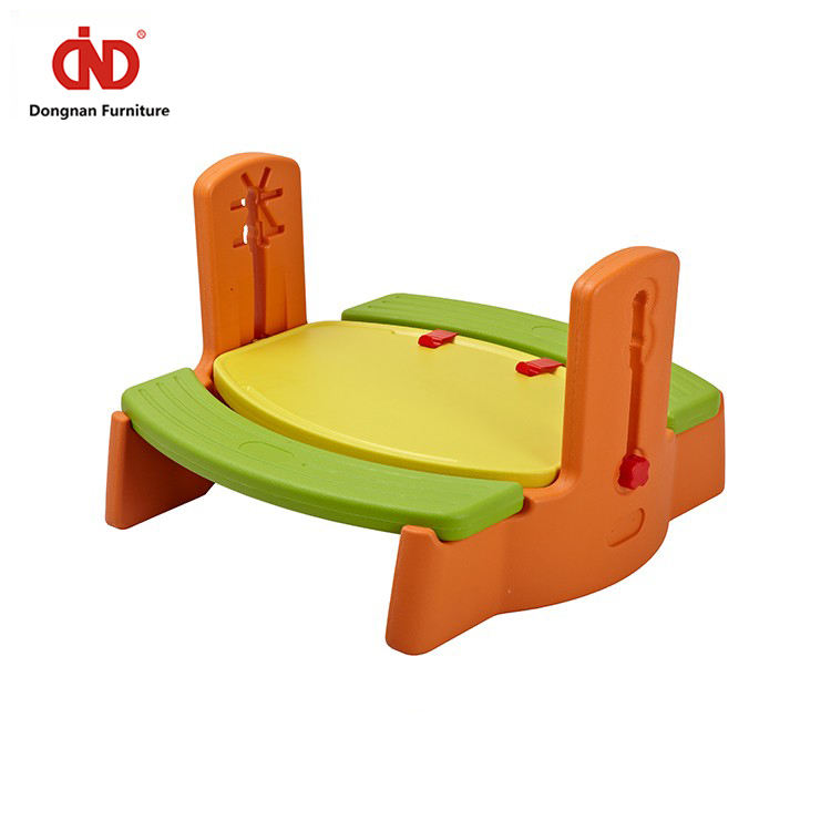 One-Stop Service Kids Plastic Table Free Sample Kindergarten Furniture Picnic Nursery Plastic Kids Reading Homework Table And Chairs