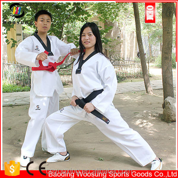 Black V-collar taekwondo uniforms,suits,doboks,martial arts kimono