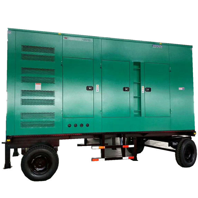 silent type lister petter diesel generator with mobile trailer