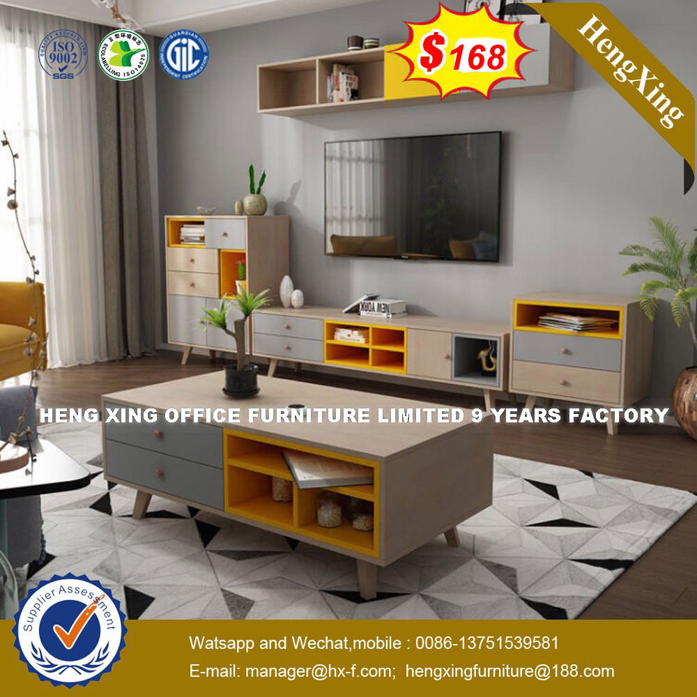 Hot sells Living room Promotional floor stand tv cabinet and coffee table for sale (HX-8NR0656)