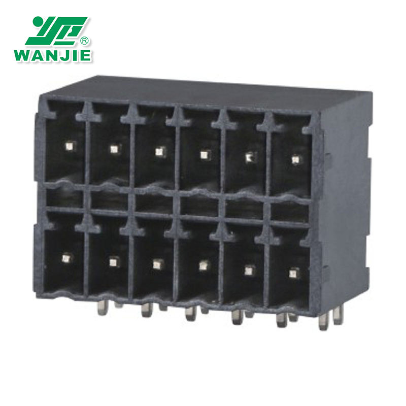 WANJIE Electronic Components Right Angle Plug-in terminal block WJ15EDGRHB-THT-3.5