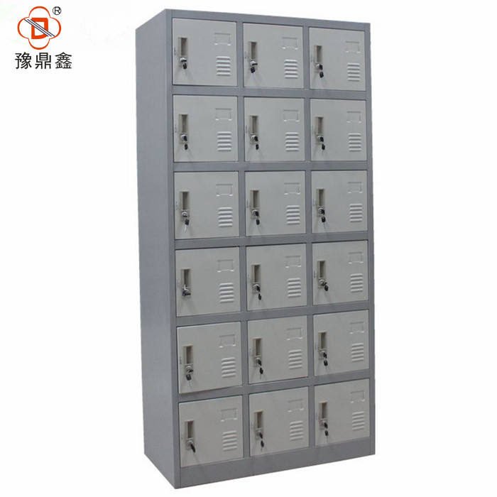 Professional steel cabinet manufacturer 18 door metal storage locker cabinet