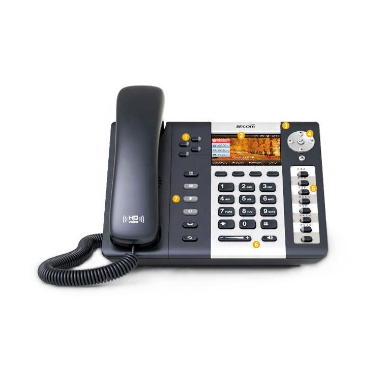 A48W Management Level IP Phone WIFI 2.4G+5G dual band, 32 SIP accounts, 9- party conference ,8 BLF keys ,Gigabit Ethernet