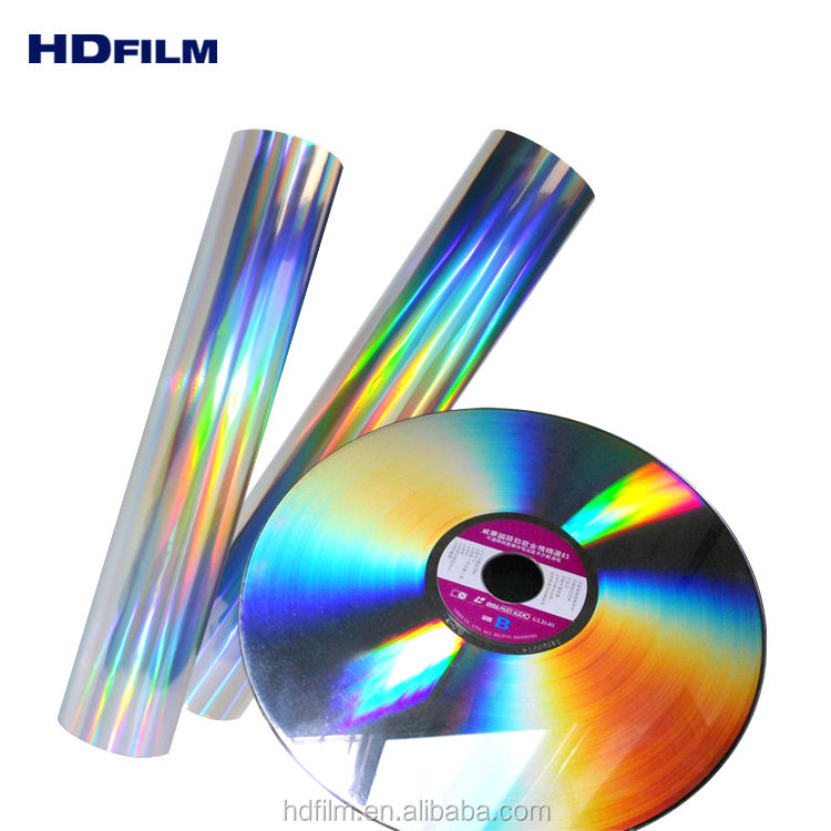 Seamless Rainbow BOPP PET Holographic Film Holographic Lamination Film from Wenzhou Factory