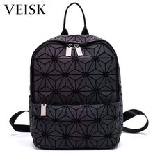 VERISK Geometric Triangle Hologram Bags Luminous Female Backpack Women Backpack Mochilas Holographic Backpack
