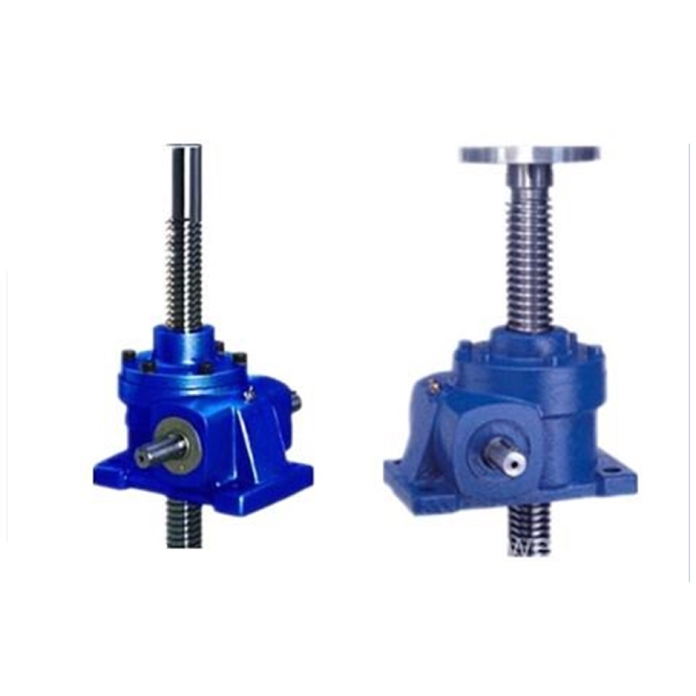 China Manufacturer electric screw jack shoring hydraulic lead manual bevel gear screw jack Vertical Downward Application worm