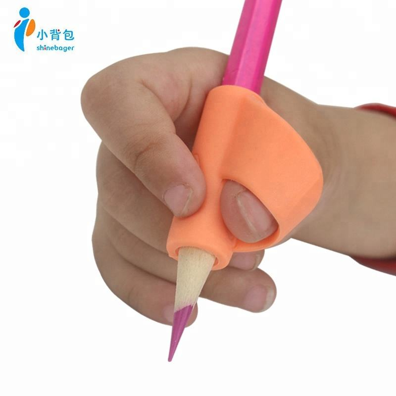 China factory eco-friendly colorful soft handwriting pencil grip silicone originals for children in writing accessories