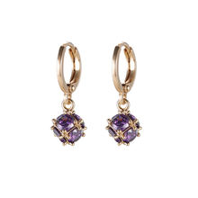 23666 Fashion design jewelry 18k gold color zircon earring