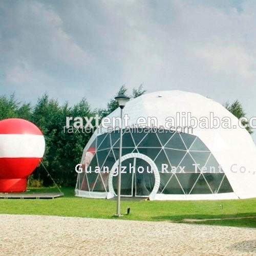 Geometric dome big steel event dome tent luxury outdoor zelte 6x6m winter tent indian wedding tent with factory price