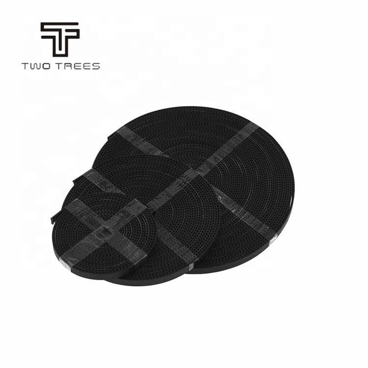 TWOTREES 3d Printer Black and white rubber fiberglass 2GT reinforce open transmission belts 6/10mm Width GT2 pu timing belt