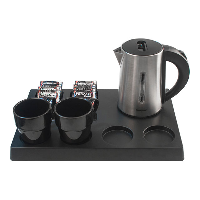 Honeyson hospitality welcome tray sets and low wattage metal electric kettle