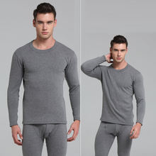 Ultra soft thermal underwear adult long warm men's set