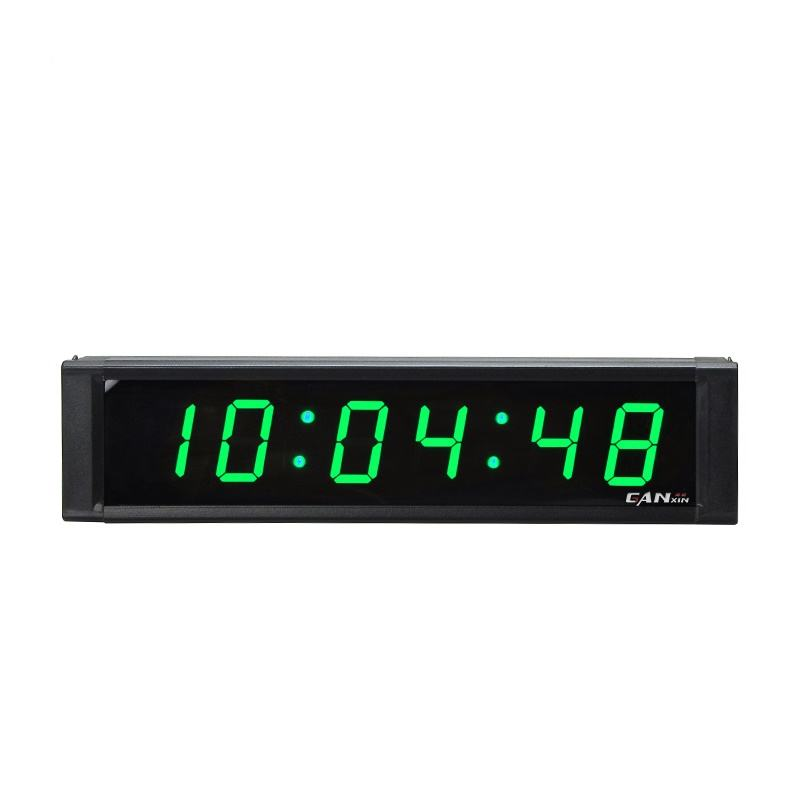 Ganxin colorful led timer and clock with 1 inch and 6 digits for home use