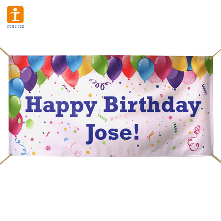Custom design birthday vinyl flex banner