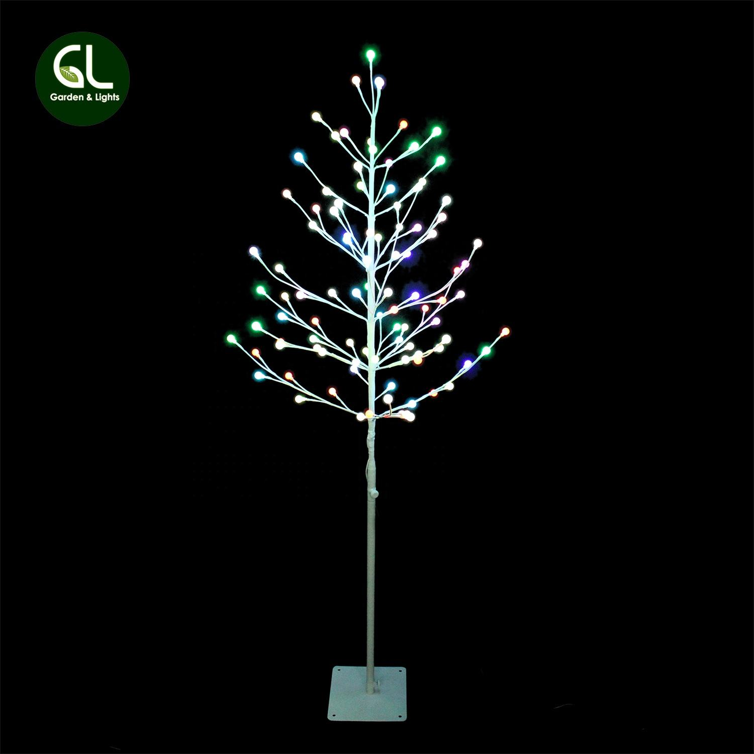 5ft colour changing berry tree, xmas tree lights, twig tree lights outdoor