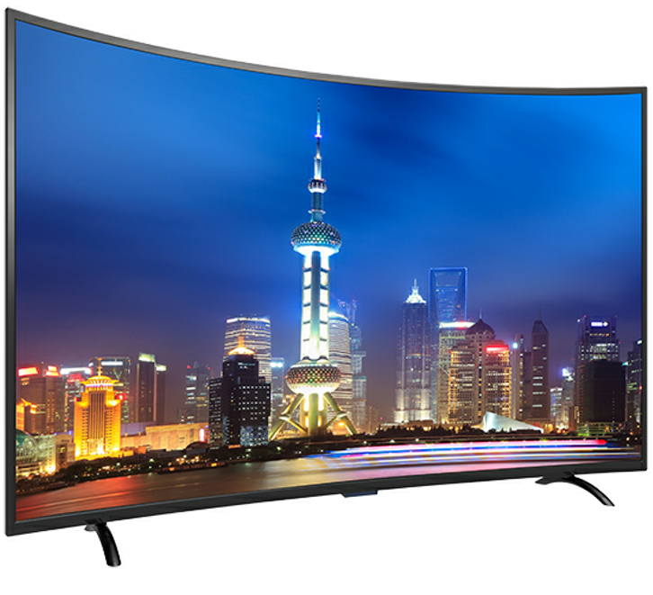 Curved 4 K 3D UHD LED TV