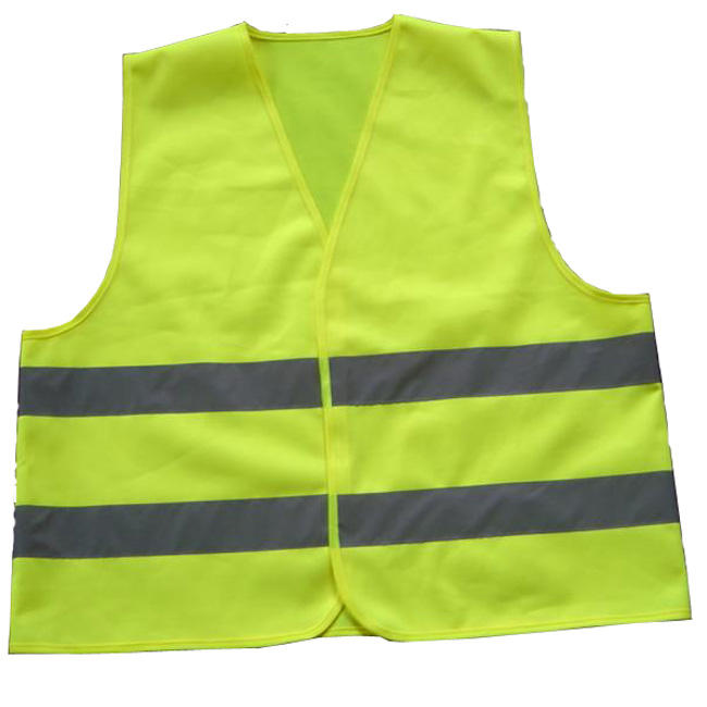 Wholesale EN471 high quality Polyester mesh Yellow reflective safety vest