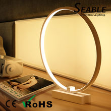 Simple modern creative table lamp romantic bedroom bedside lamp dimmable circular LED table lamp