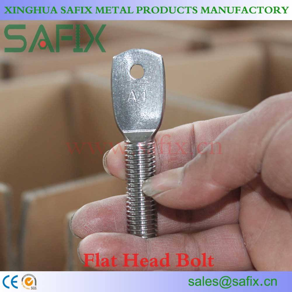 SS304 SS316 Stainless Steel Flat Head Bolt/Extension Arm/Spade Bolt/adjustable arm bolt In stock