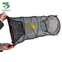 Best Quality Foldable Nylon 30cm x60cm fishing cage lobster trap crab trap