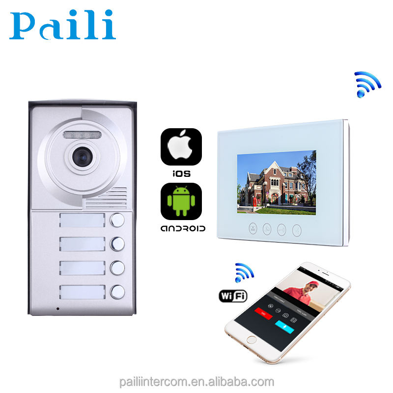 IP Video Pintu Telepon/Kabel Power Wifi Bel