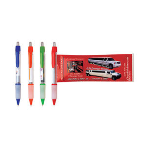Gift pen promotional banner pen with pull out paper