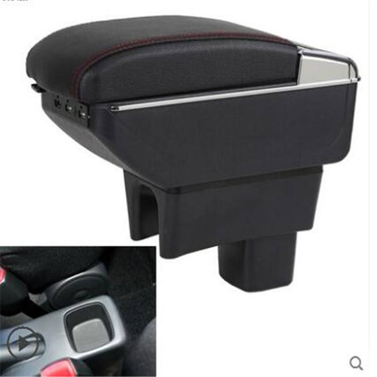 armrest box central Store car console box with cup holder USB and cover can be raised