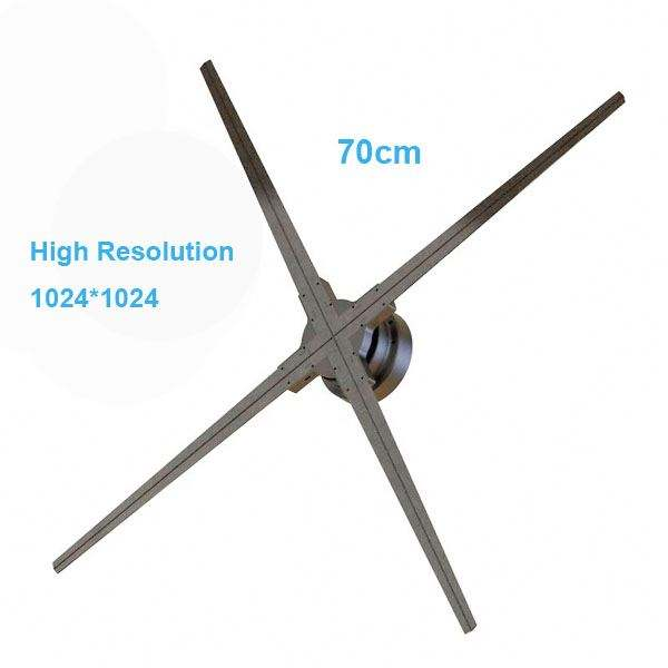 Neueste Kino Holospin, 3D Hologramm LED Fan 70cm 100cm