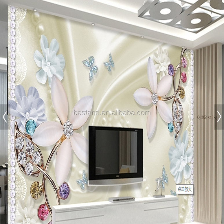 Beautiful Korea Style wallpaper China 3D Wallpaper Customzied wall covering